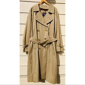 Burberry Trench Coat Jacket Vintage Khaki Mens